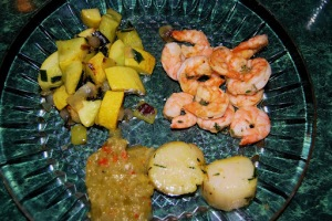 Scallop and Shrimp Dinner