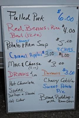 Red Robin Food Truck Menu