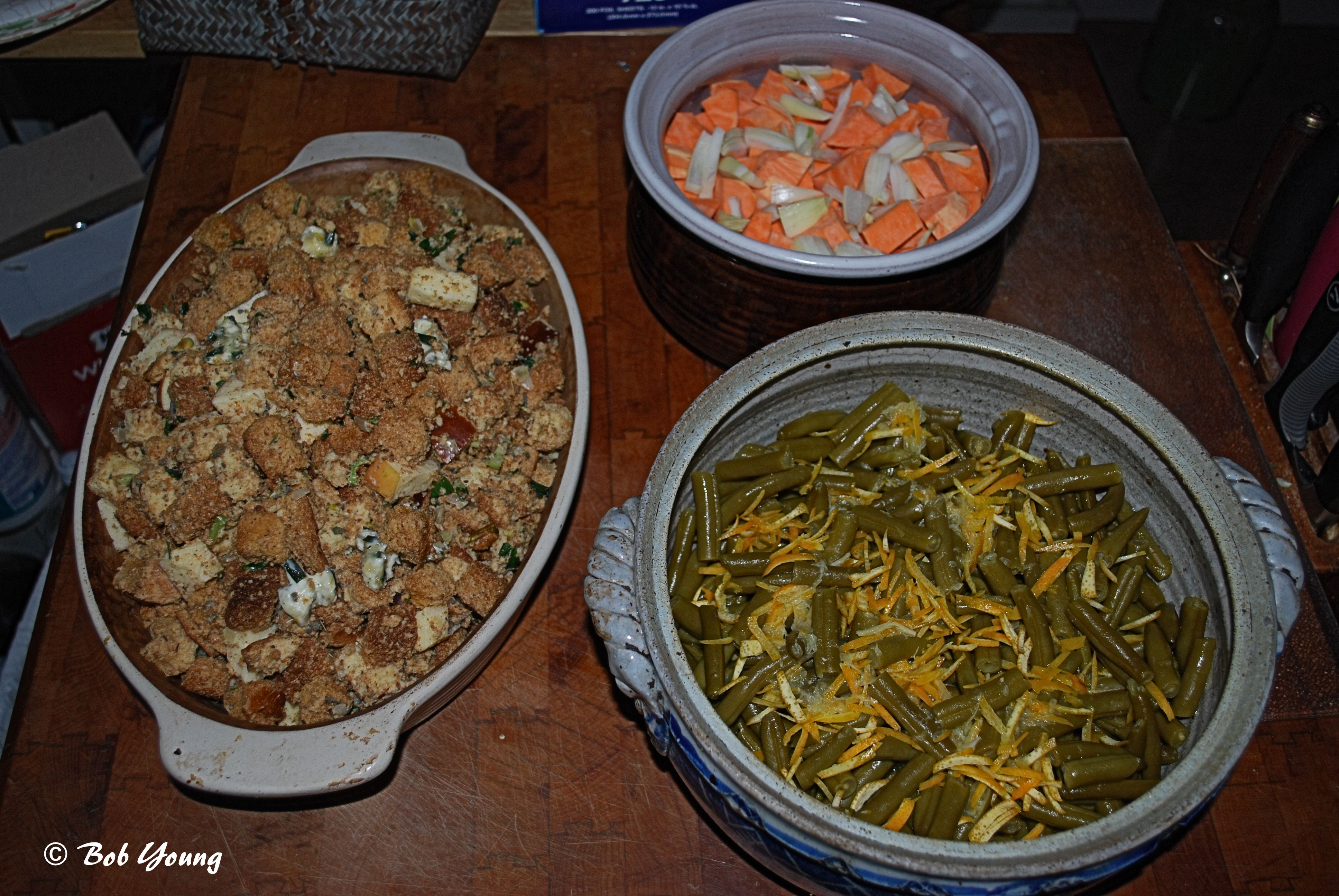 Orange and Onion Green Bean Casserole, Apple and Herb Stuffing, Sweet ...