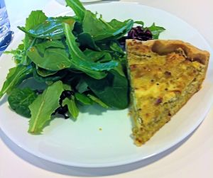 Goat Cheese and Leek Quiche. Delicious!