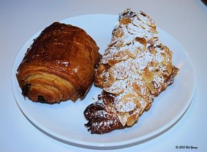 Pain au Chocolate and Almond Croissant