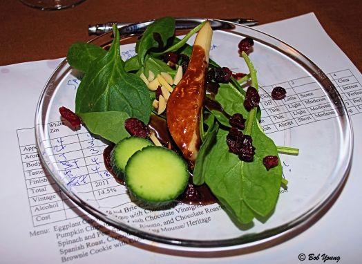 12Feb2013_1b_Buzz-Valentines_Spinach and Pear Salad_Choc Vinaigrette