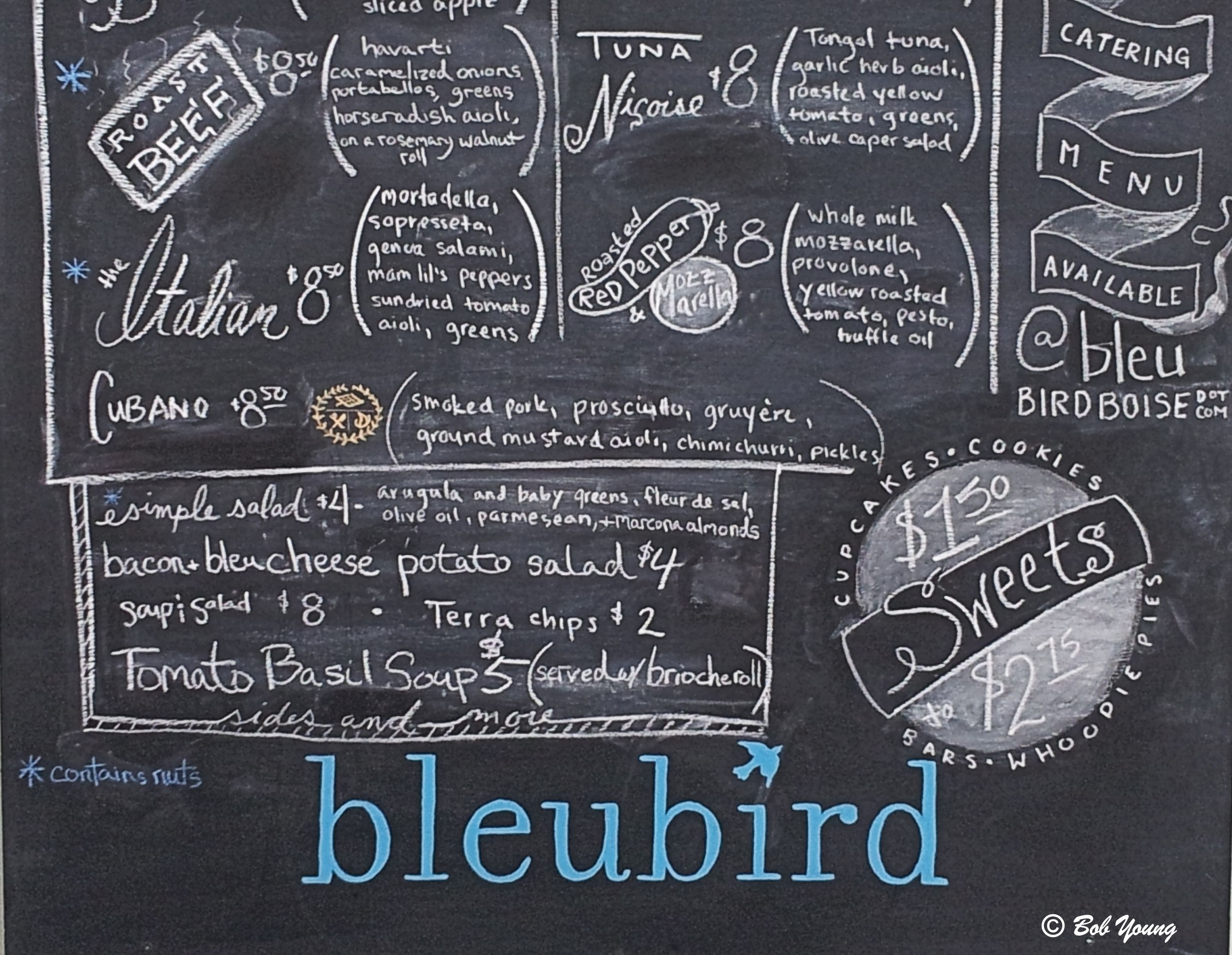 Bluebird Restaurant Menu