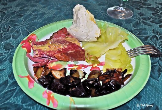 Corned Beef, Cabbage, Irish Soda Bread (Thanks Mac) and Roasted Root Vegetables.