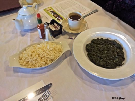 Sabzi Chalow - Sauteed Fresh Spinach with Basmati Rice