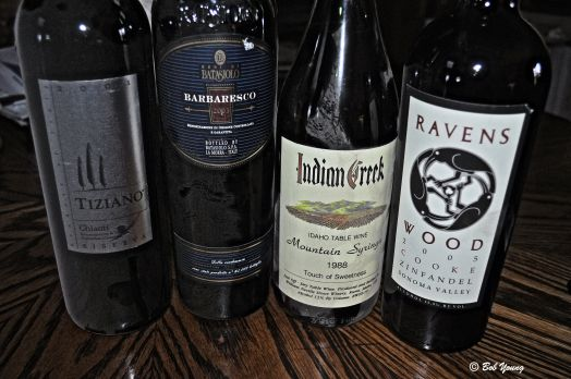 The wines we pulled for our dinner and party!