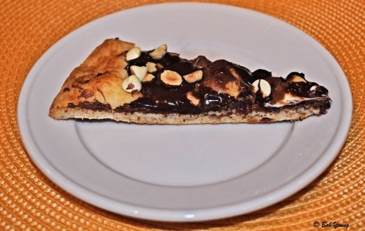 Chocolate Pizza plated. YUM!!!