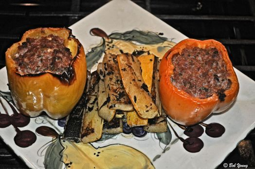 Stuffed Peppers Grilled Heirloom Squash