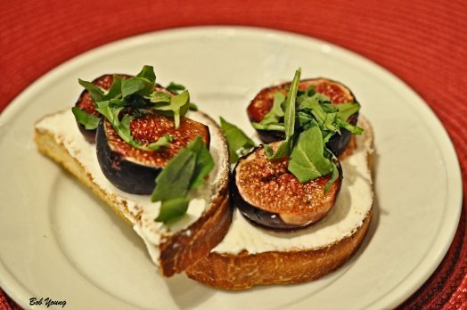 Fig and Fromage Blanc Crostini A great appetizer.