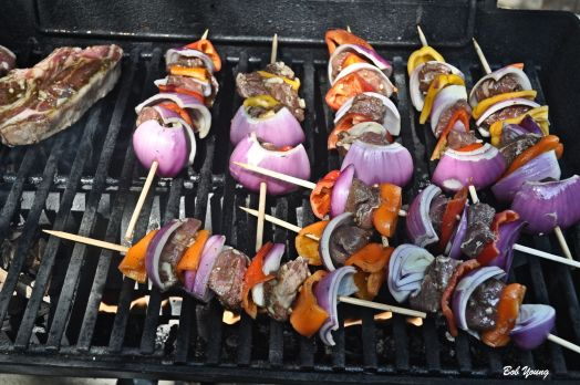 Lamb Kabobs on the grill