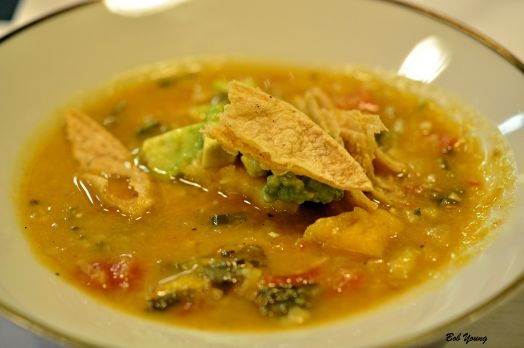 Pumpkin Tortilla Soup 2012 St Urbans Reisling Germany)