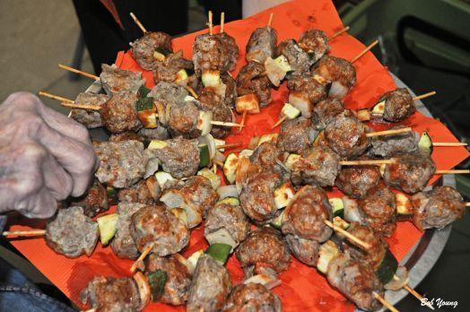 Kabobs with Zucchinni