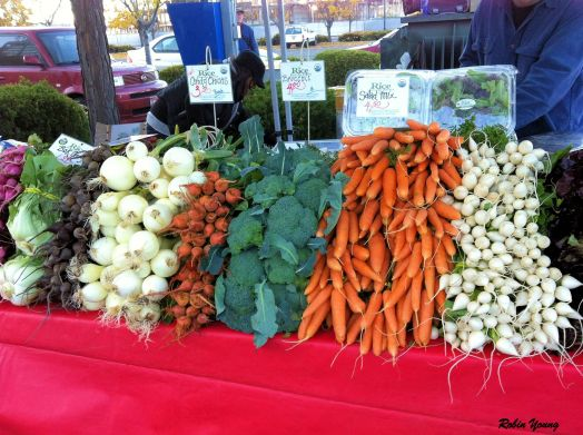 Some fresh vegetables are still available.
