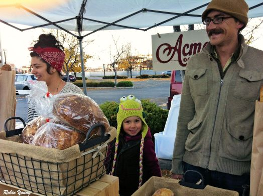Acme Bakeshop, Michael and Soraya and Friend Maria from Rice Family Farms.
