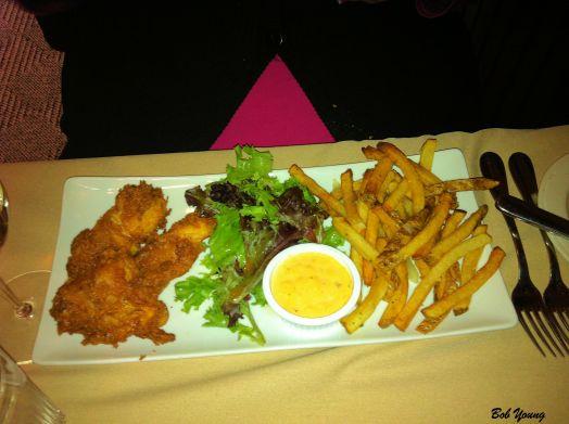 Fish and Chips Green Salad