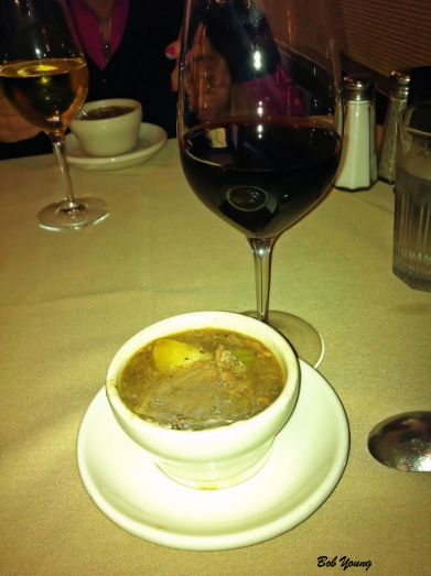 Pulled Pork Soup Cold Springs Winery Hot Rod Red and Cold Springs Chardonnay The soup was super and went best with the Hot Rod Red.