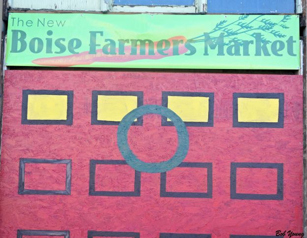 The sign to the market.