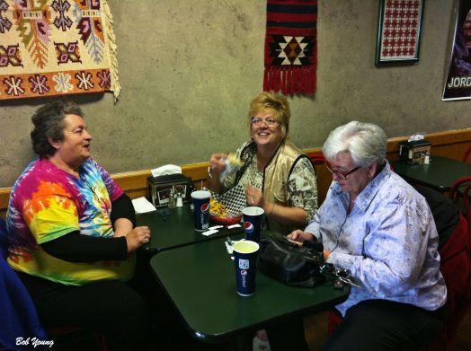 Robin, Janine and Gina enjoying the experience.