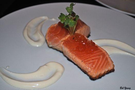 Seared Salmon with Daikon