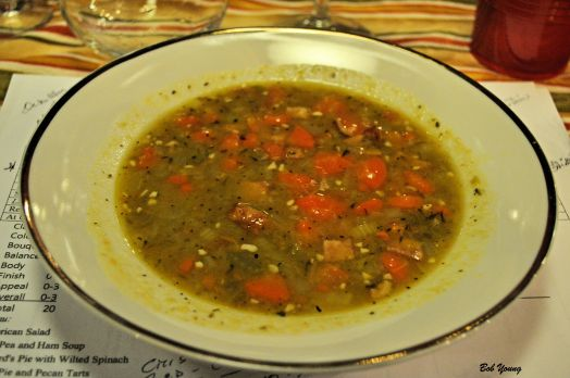 Split Pea and Ham Soup 2010 Vina Amalia Malbec  [15] 2011 Purple Malbec [17]