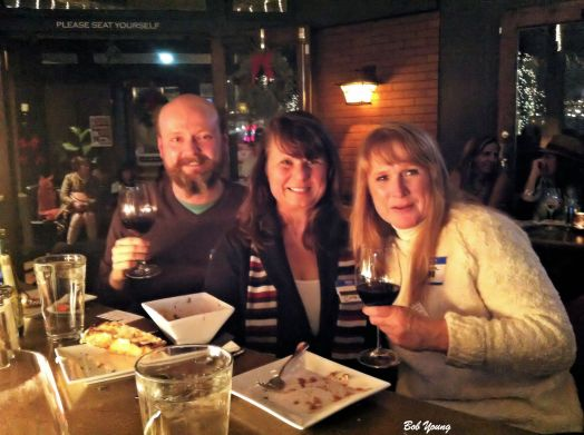 Joe, Cindi and Jan are enjoying the company and the party.
