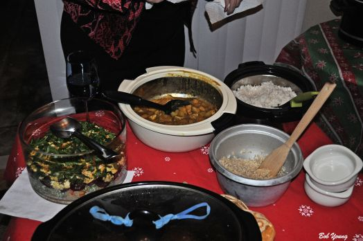 "Curry, Thai food, different types of rice, chicken, pasta and much, much more. No one went away hungry!! There are some awesome cooks in this group. I like this type of Meet-Up just as well as visiting our local restaurants. As my Supervisor at the duPont Company would say many years ago, ""Atta boy!!"""