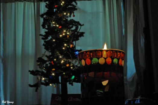 And the candle started to go dim and the tree lights are subdued. The end of the day and a very great Christmas. Thank-You one and all! Cheers!