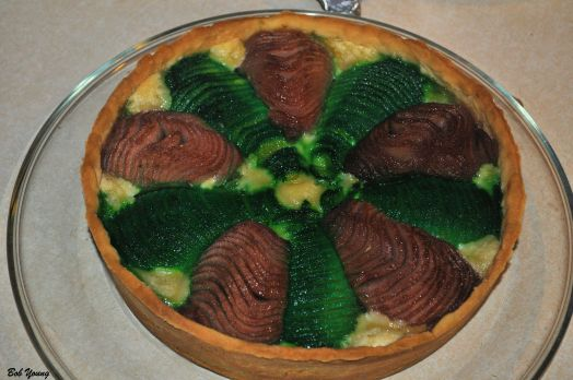 Marnie made this great Pear and Almond Tarte. Beautiful colors.
