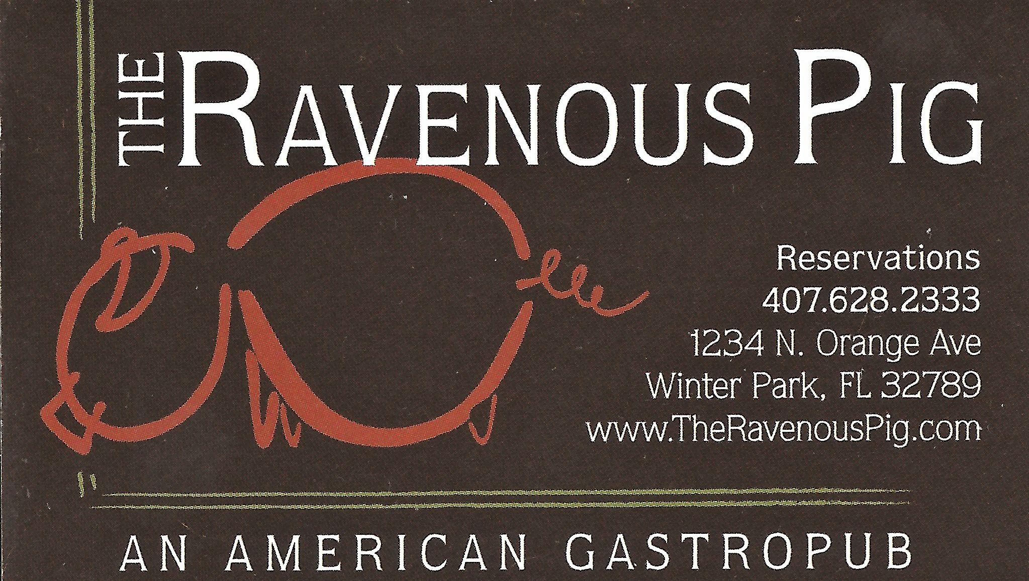 The Ravenous Pig Restaurant Winter Park Fl