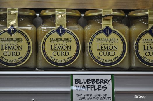 Inside the store. Just one of many products. I like Lemon Curd. So does Robin.