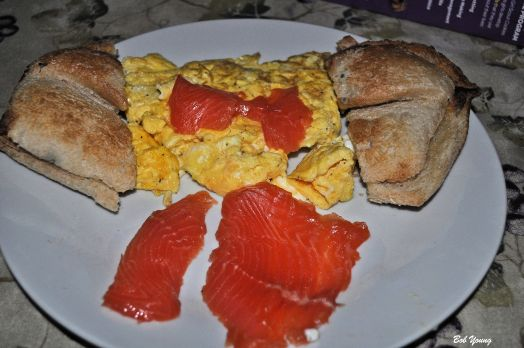 Robin's Icebox Lox Scrambled Eggs Acme Bake Shop Toasted Sourdough