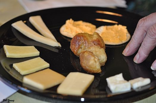 Assorted Cheeses for an Appetizer.