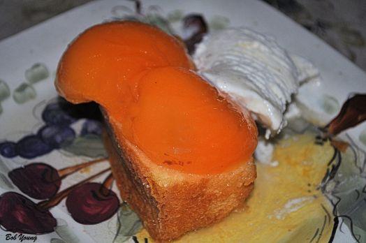 Hood-Crest Apricots Pound Cake Vanilla Ice Cream