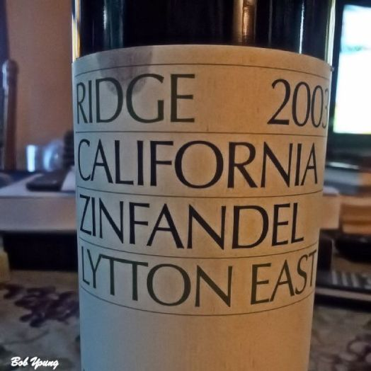 2003 Ridge Winery Lytton East Zinfandel. AP - $164.00!