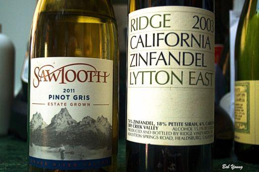 2011 Sawtooth Winery Estate Grown Pinot Gris ($43.00) 2003 Ridge Vineyards Lytton East Zinfandel ($165.00 - 54 barrels produced)