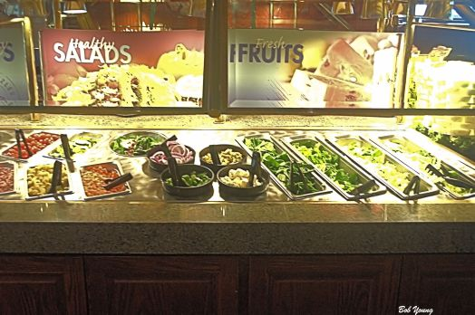 At least 3 types of lettuce for your salad. And great toppings, too. I'd go back just for the salad bar! It's that good.