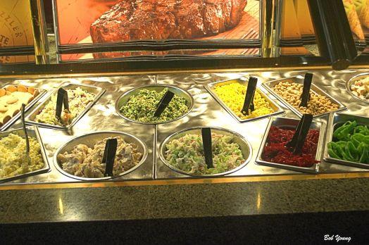 Salad bar toppings.