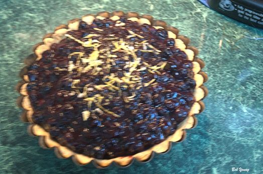 Robin also made this Blueberry Pie. I do like blueberries!