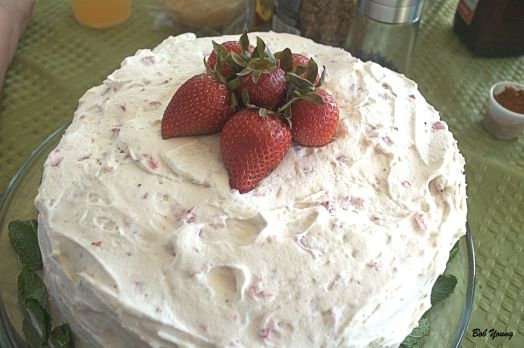 Marnie made the Strawberry Cake. This was really good.