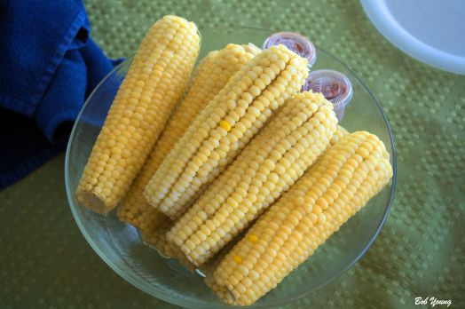 Great corn, Marnie, for this early in the season. Did not need and salt, pepper or butter.