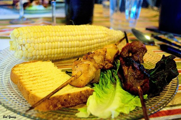 Chicken and Beef Skewers with Corn On-The-Cob 2011 If You See Kay [20]
