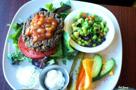 How about the Veggie Burger Salad?