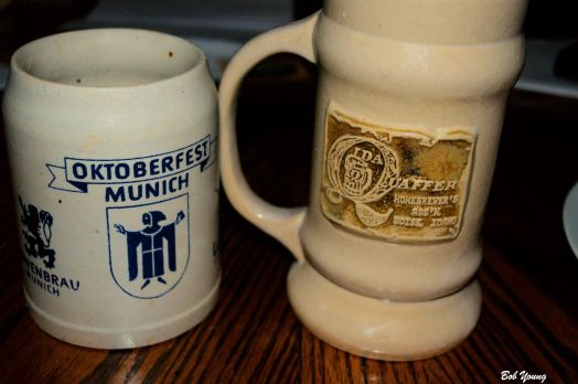 """The beer steins we have on """"The Self""""."""