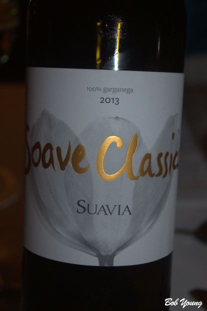 Suavia Soave Classico The wine served with the sole.