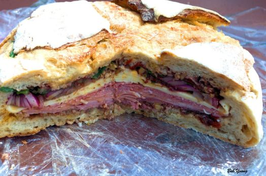 Here is probably a good variation on the original muffuletta. The recipe is