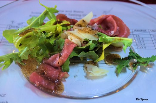 Beef Carpaccio ()Celebrity Lines), Italy 2011 Zonin Valpolicella 14% alc a good wine with this salad [16]