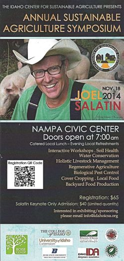 For thos of you who might be interested, this looks like a great symposium coming to the Nampa Civic Center this Fall. It might be a good thing to sign up for early. It is a very popular subject.