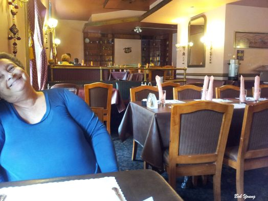 We arrived at Bombay Grill about 10 minutes before they opened. We were some of the first to be seated. Here you can see the interior of the restaurant.