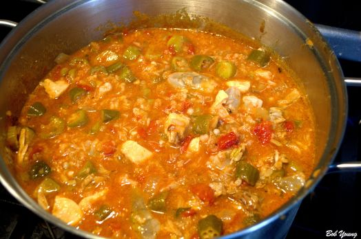 The gumbo is getting very, very happy!