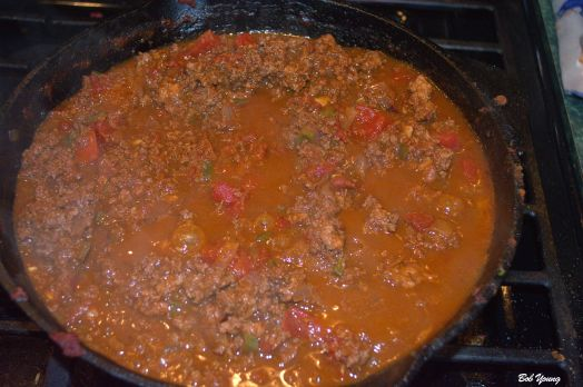 Sloppy Joe getting happy. Let it cool. Heat it up. Let it cool. Heat it up and serve it. It is far better after several cool/heat cycles. The flavors marry better.